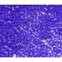 11/0 Toho Treasure Seed Beads, Frosted Sapphire Blue, 7 Gram Tube