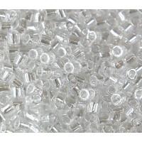 8/0 Miyuki Delica Seed Beads, Crystal Luster, 10 Gram Bag