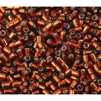 8/0 Miyuki Delica Seed Beads, Silver Lined Topaz