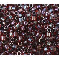 8/0 Miyuki Delica Seed Beads, Garnet Lined Ruby, 10 Gram Bag