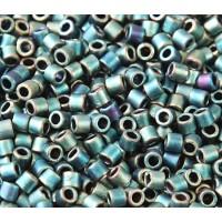 8/0 Miyuki Delica Seed Beads, Matte Metallic Sage, 10 Gram Bag