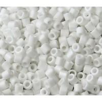 8/0 Miyuki Delica Seed Beads, Matte White, 10 Gram Bag