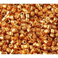 8/0 Miyuki Delica Seed Beads, Galvanized Dark Gold, 10 Gram Bag