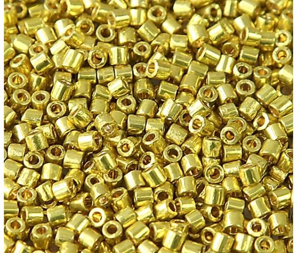 8/0 Miyuki Delica Seed Beads, Duracoat Galvanized Zest, 10 Gram Bag
