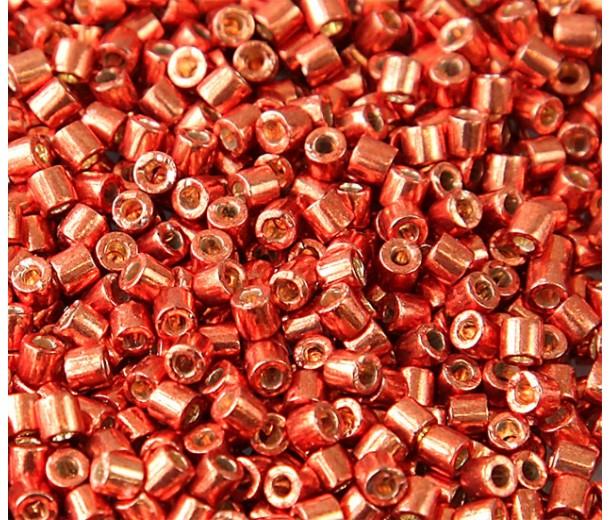 8/0 Miyuki Delica Seed Beads, Galvanized Pink Blush, 10 Gram Bag