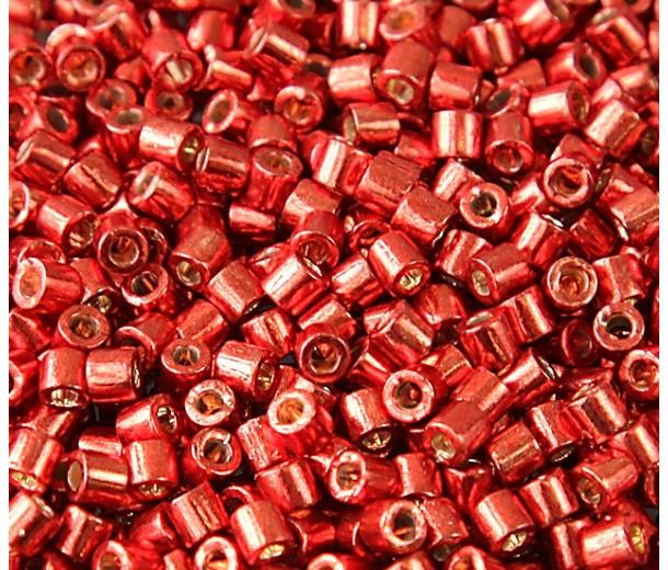 8/0 Miyuki Delica Seed Beads, Duracoat Galvanized Berry, 10 Gram Bag