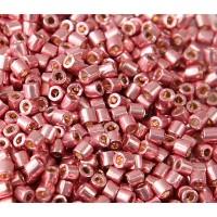 8/0 Miyuki Delica Seed Beads, Galvanized Dark Coral, 10 Gram Bag