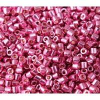 8/0 Miyuki Delica Seed Beads, Galvanized Hot Pink, 10 Gram Bag