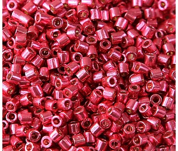 8/0 Miyuki Delica Seed Beads, Galvanized Light Cranberry, 10 Gram Bag