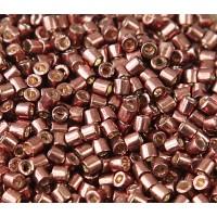 8/0 Miyuki Delica Seed Beads, Galvanized Dark Mauve, 10 Gram Bag