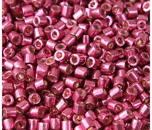 8/0 Miyuki Delica Seed Beads, Galvanized Magenta, 10 Gram Bag