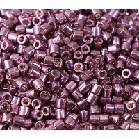 8/0 Miyuki Delica Seed Beads, Galvanized Eggplant, 10 Gram Bag