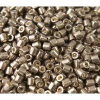 8/0 Miyuki Delica Seed Beads, Duracoat Galvanized Pewter, 10 Gram Bag