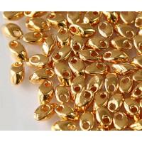 4x7mm Miyuki Long Magatama Beads, 24K Gold Plated, 5 Gram Bag
