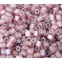 4mm Miyuki Square Beads, Matte Rainbow Lilac, 10 Gram Bag
