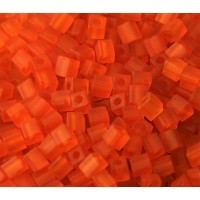 4mm Miyuki Square Beads, Matte Red, 10 Gram Bag