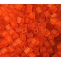4mm Miyuki Square Beads, Matte Red