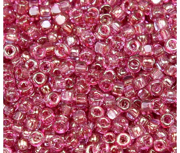 6/0 Matubo 3-Cut Seed Beads, Rosaline Luster, 5 Gram Bag