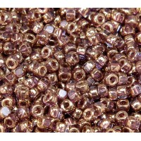 6/0 Matubo 3-Cut Seed Beads, Transparent Bronze, 5 Gram Bag