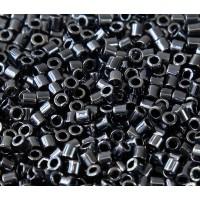 8/0 Miyuki Delica Seed Beads, Metallic Hematite