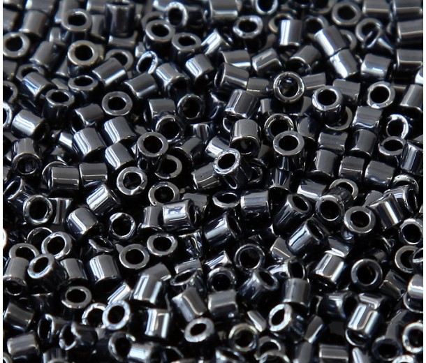 8/0 Miyuki Delica Seed Beads, Metallic Hematite, 10 Gram Bag