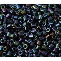 8/0 Miyuki Delica Seed Beads, Metallic Midnight Blue
