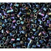8/0 Miyuki Delica Seed Beads, Rainbow Metallic Blue
