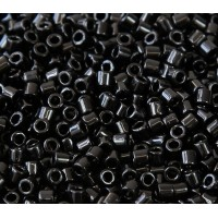 8/0 Miyuki Delica Seed Beads, Opaque Black, 10 Gram Bag