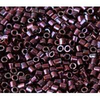 8/0 Miyuki Delica Seed Beads, Metallic Dark Raspberry