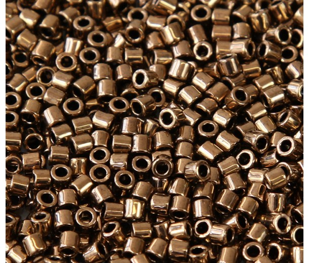 8/0 Miyuki Delica Seed Beads, Metallic Bronze, 10 Gram Bag