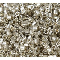 8/0 Miyuki Delica Seed Beads, Galvanized Silver