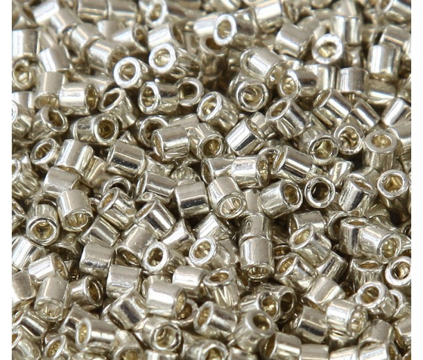 8/0 Miyuki Delica Seed Beads, Galvanized Silver, 10 Gram Bag