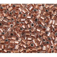 8/0 Miyuki Delica Seed Beads, Copper Lined Crystal