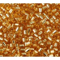 8/0 Miyuki Delica Seed Beads, Silver Lined Gold