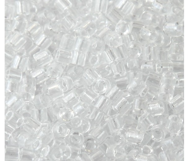 8  0 miyuki delica seed beads  transparent crystal