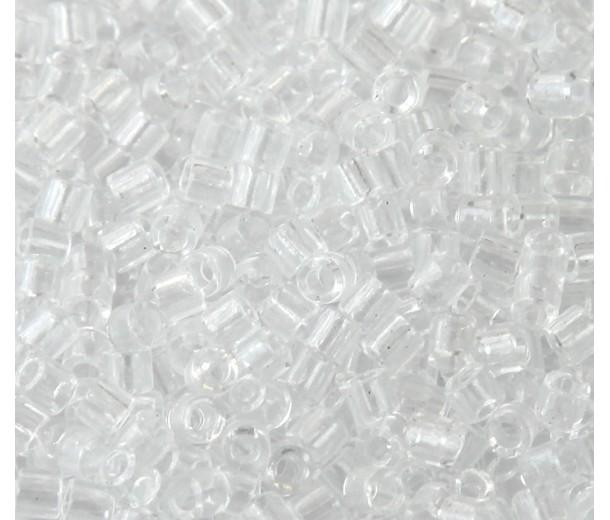 8/0 Miyuki Delica Seed Beads, Transparent Crystal, 10 Gram Bag