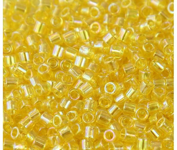 8/0 Miyuki Delica Seed Beads, Rainbow Yellow, 10 Gram Bag