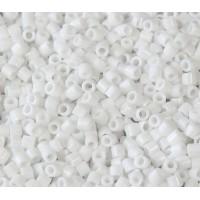 8/0 Miyuki Delica Seed Beads, Opaque Chalk White, 6.8 Gram Tube