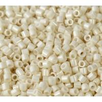 8/0 Miyuki Delica Seed Beads, Eggshell Luster, 10 Gram Bag