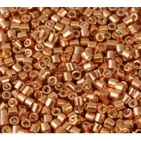8/0 Miyuki Delica Seed Beads, Galvanized Gold, 10 Gram Bag