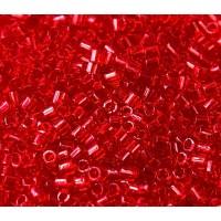 8/0 Miyuki Delica Seed Beads, Transparent Red, 10 Gram Bag