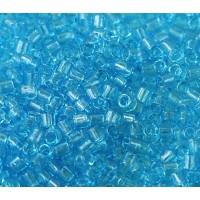 8/0 Miyuki Delica Seed Beads, Transparent Blue, 10 Gram Bag