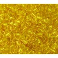 8/0 Miyuki Delica Seed Beads, Transparent Yellow, 10 Gram Bag