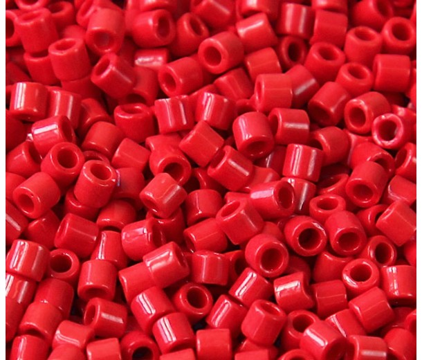 8/0 Miyuki Delica Seed Beads, Opaque Red