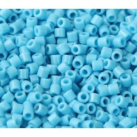 8/0 Miyuki Delica Seed Beads, Opaque Turquoise Blue, 10 Gram Bag