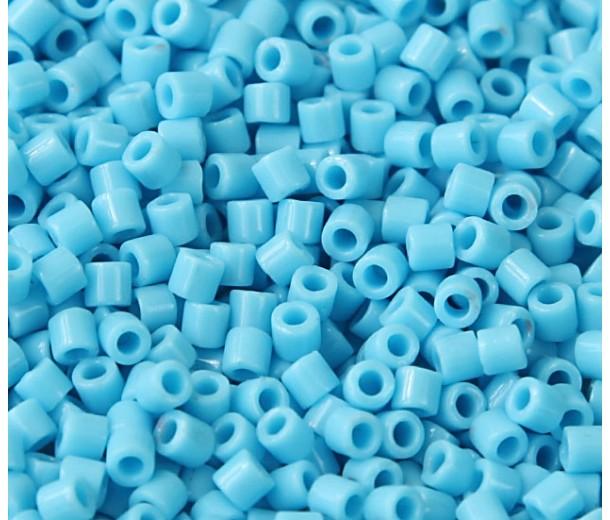 8/0 Miyuki Delica Seed Beads, Opaque Turquoise Blue, 6.8 Gram Tube