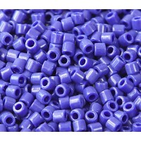 8/0 Miyuki Delica Seed Beads, Opaque Cobalt Blue, 10 Gram Bag