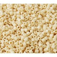 8/0 Miyuki Delica Seed Beads, Opaque Rich Cream, 10 Gram Bag