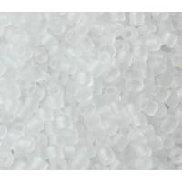 8/0 Miyuki Delica Seed Beads, Matte Crystal
