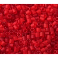 8/0 Miyuki Delica Seed Beads, Matte Light Red, 10 Gram Bag